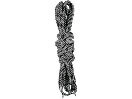 Tkaničky do obuvi reflexní, kulaté, 130 cm, černé