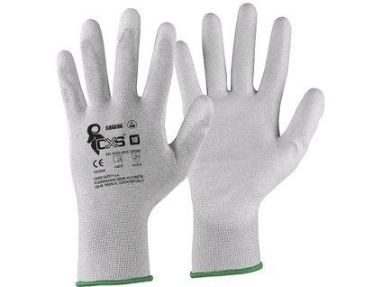 Rukavice CXS ADGARA, antistatické, ESD, povrstvená dlaň a prsty