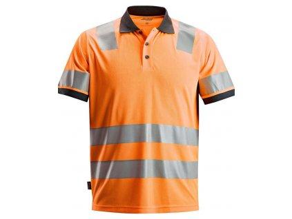 Polokošile AllroundWork reflexní tř. 2 oranžová Snickers Workwear