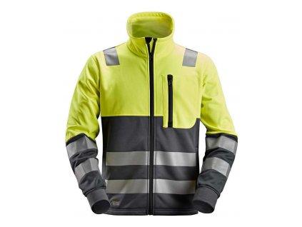 Mikina AllroundWork reflexní na zip, tř. 2 žlutá Snickers Workwear