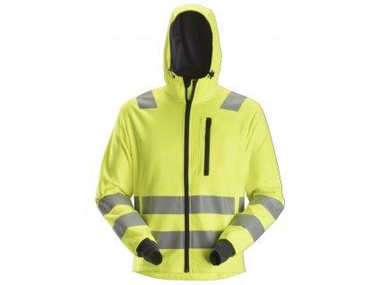 Mikina AllroundWork reflexní se zipem, tř. 2/3 žlutá Snickers Workwear