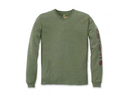 Triko Carhartt Long-Sleeve Graphic Logo T-Shirt
