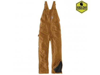 Kalhoty laclové Carhartt Loose Fit Firm Duck Insulated Bib Overall