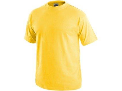 Tričko CXS DANIEL, krátký rukáv, žluté