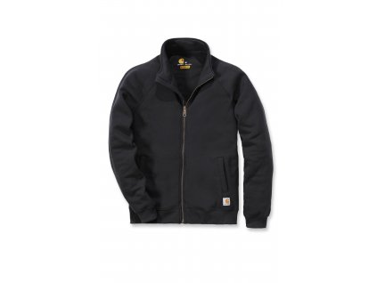 Mikina Carhartt černá Midweight Mock Neck Zip - Front Sweatshirt