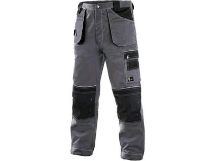 Kalhoty do pasu CXS ORION TEODOR, pánské, šedo-černé Velikost: 60
