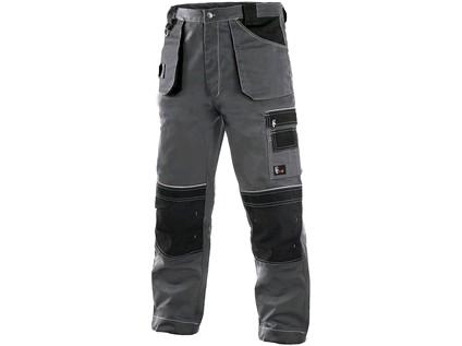 Kalhoty do pasu CXS ORION TEODOR, prodloužené, pánské, šedo-černé Velikost: 60-62