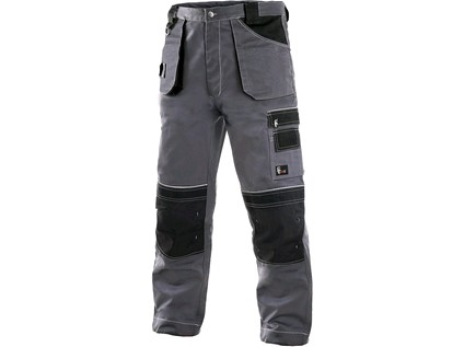 Kalhoty do pasu CXS ORION TEODOR, 170-176cm, pánské, šedo-černé Velikost: 60