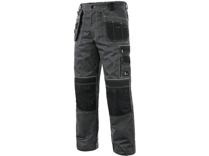 Kalhoty do pasu CXS ORION TEODOR PLUS, pánské, šedo-černé Velikost: 60