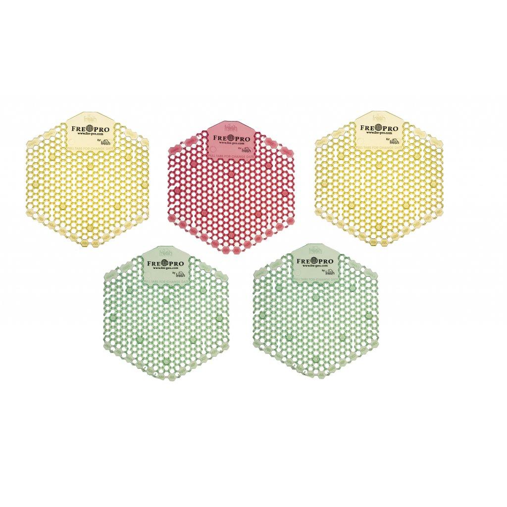 Pisoárové sítko WAVE 3D - 5x 2 ks v balení