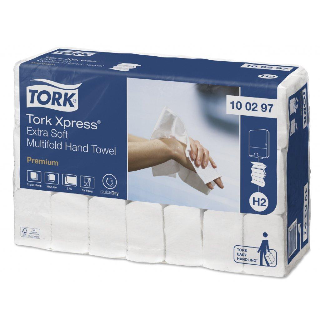 Skládané papírové ručníky Tork Xpress Extra Soft