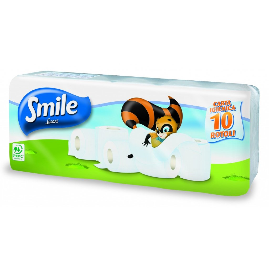 Toaletní papír SMILE 2 vrstvý bílý