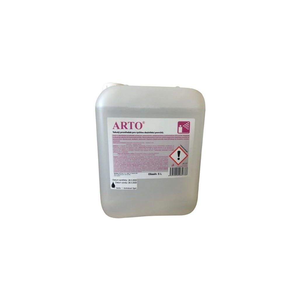 ARTO tekutý přípravek pro rychlou hygienickou dezinfekci povrchů 5L