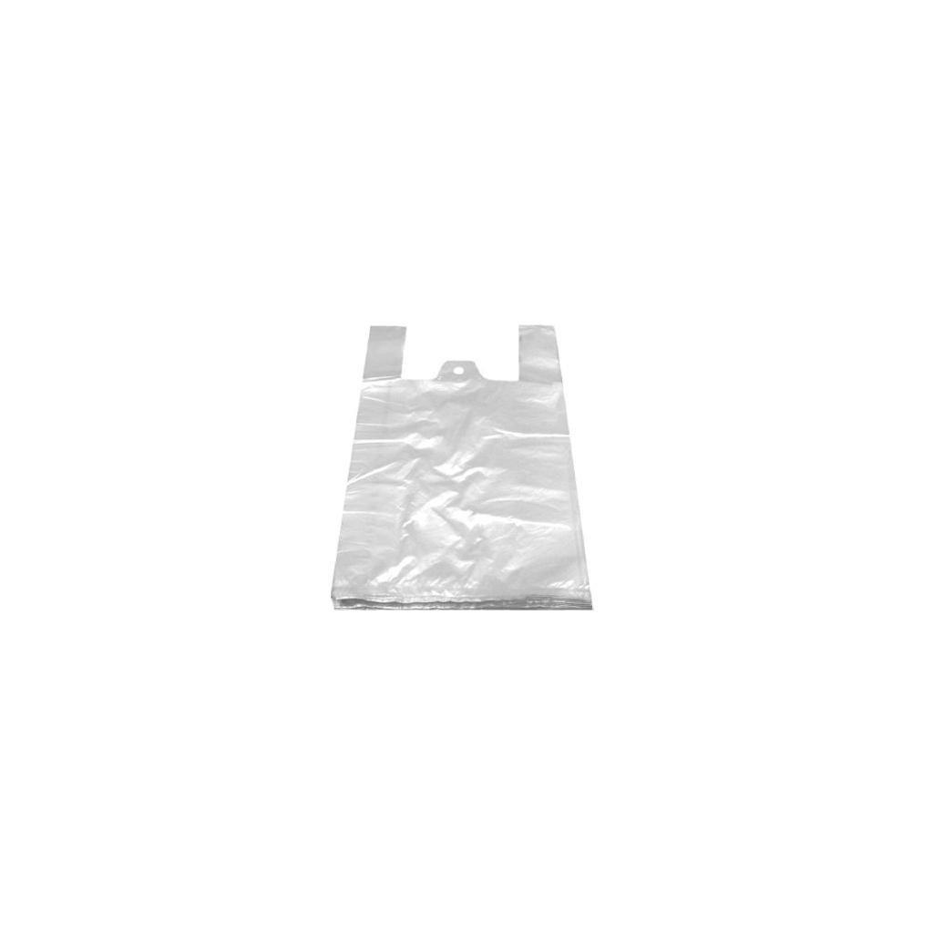 Mikrotenové tašky, odtrhávací, 4 kg, vel. 24 + 11 x 44 cm, bílé, 100 ks
