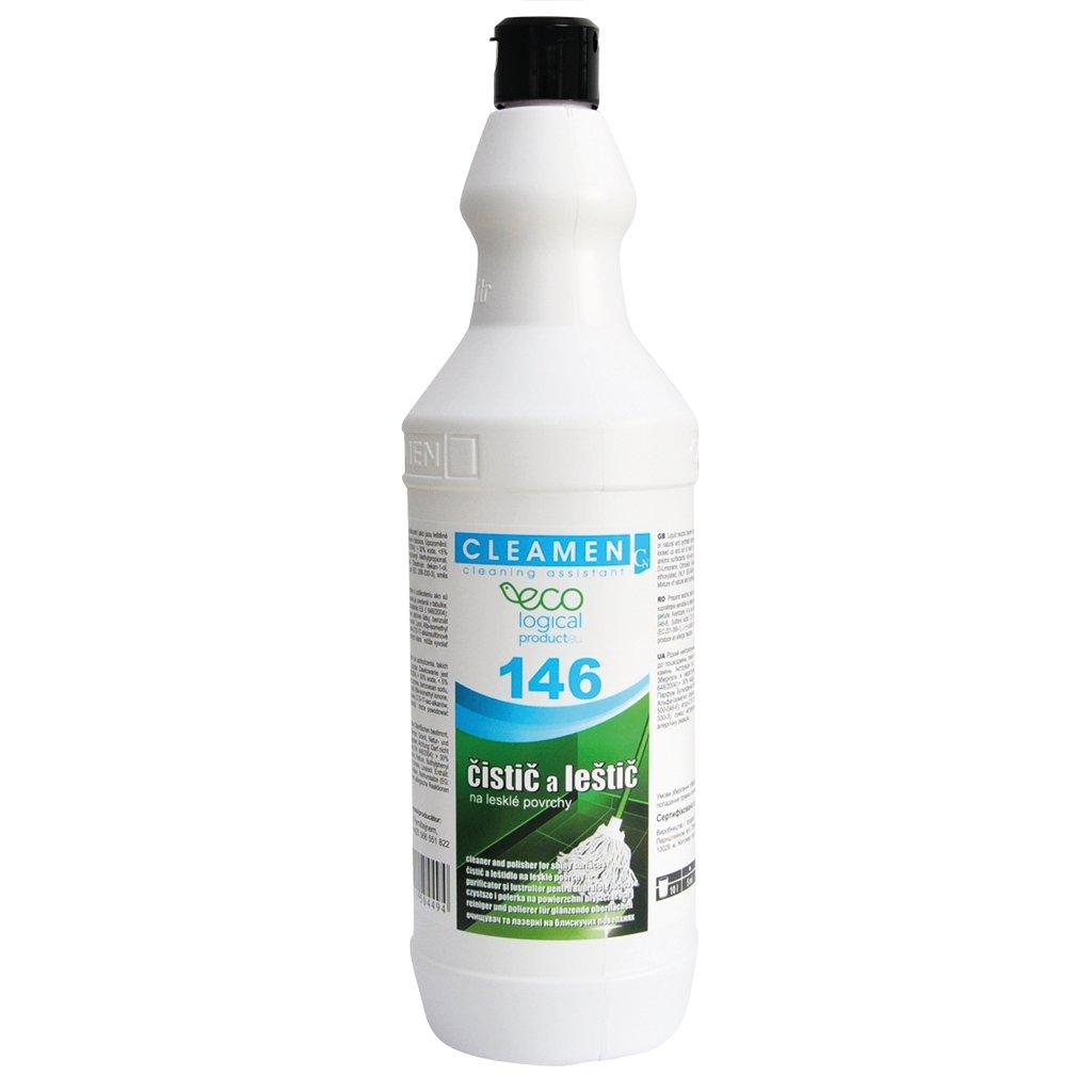 CLEAMEN 146 čistič a leštič na lesklé povrchy ECO 1L