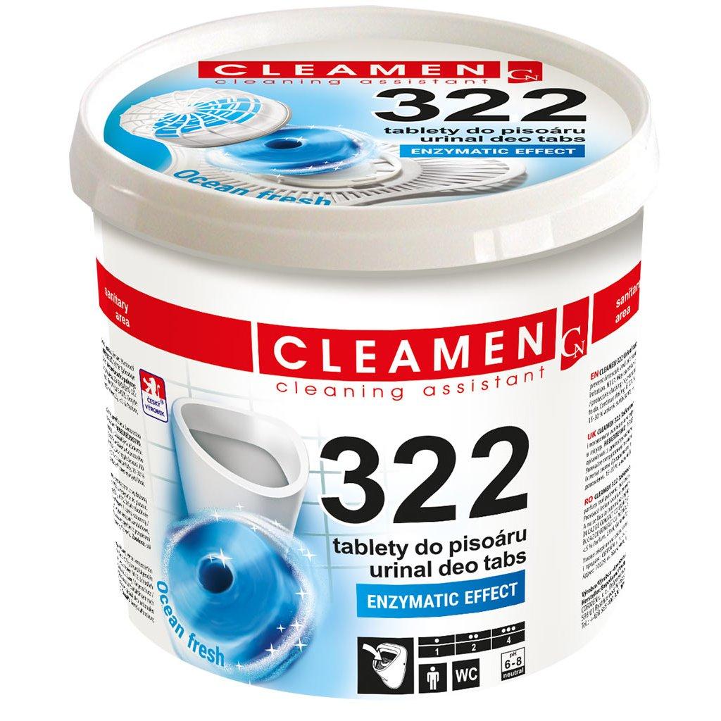 CLEAMEN 322 Tablety do pisoáru, 12 ks + sítko