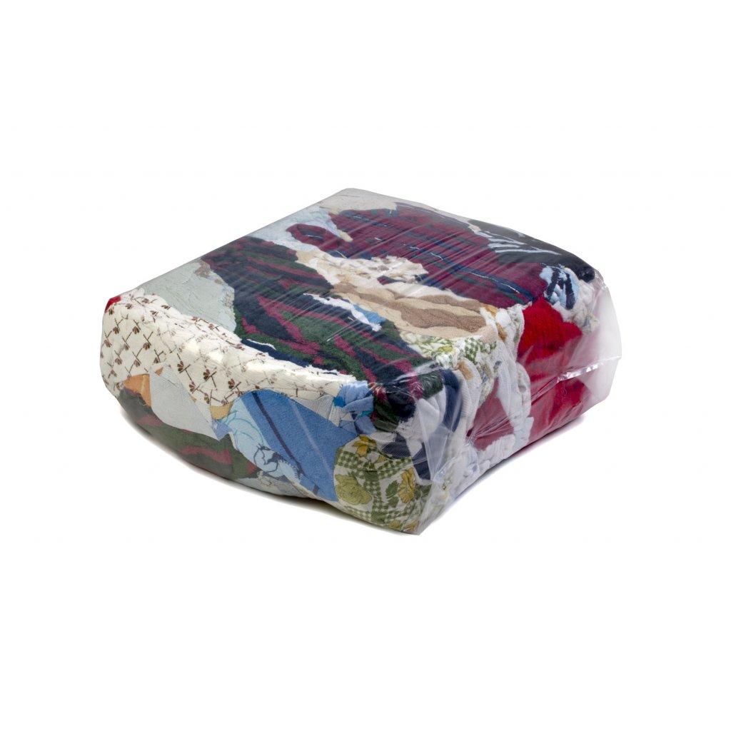 Textilní čistící utěrky - Barevná látka z froté ručníků 5kg