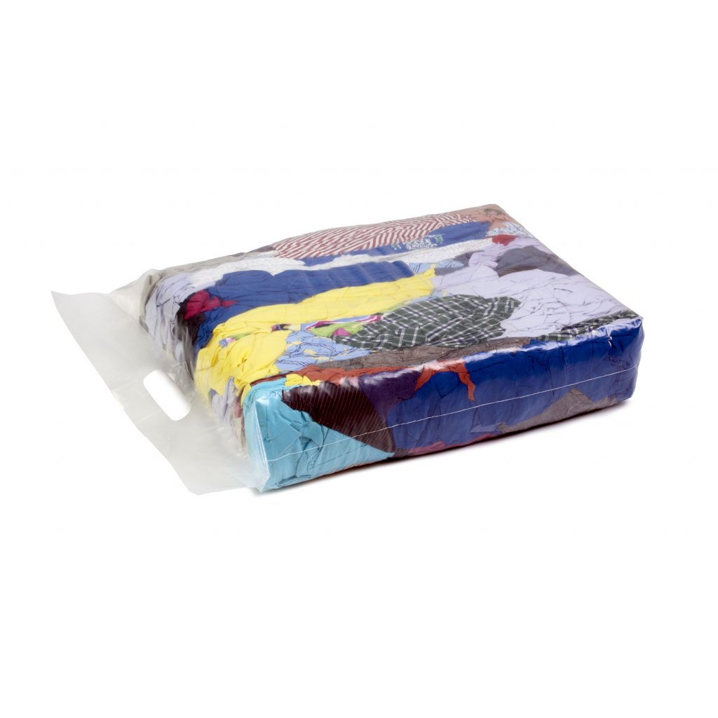 Textilní čistící utěrky - Barevné, bavlněné látky 5kg