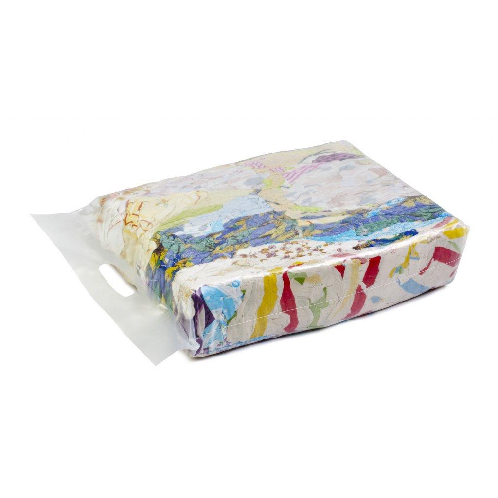 Textilní čistící utěrky- Látky s barevného, bavlněného povlečení 5kg