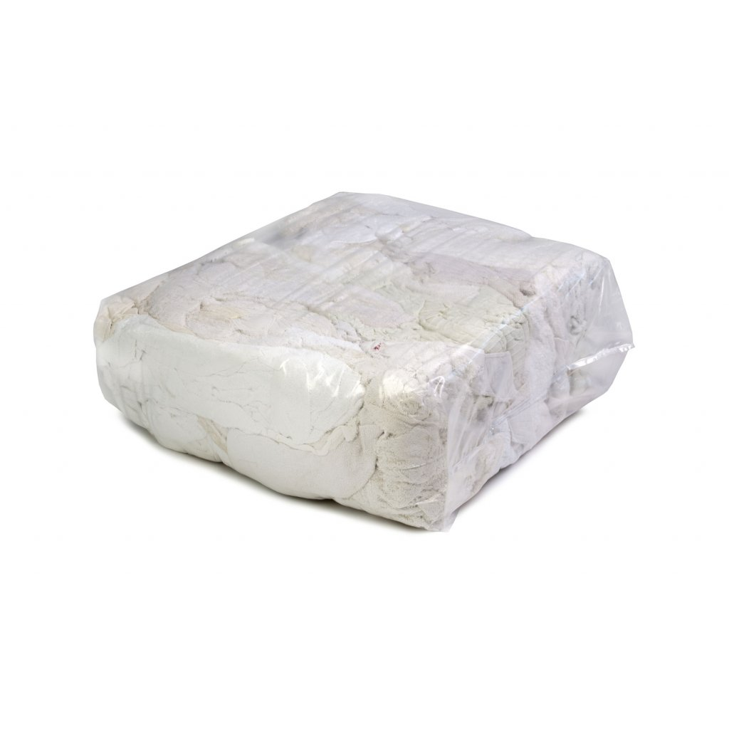 Textilní čistící utěrky - Bílá látka z froté ručníků 10kg
