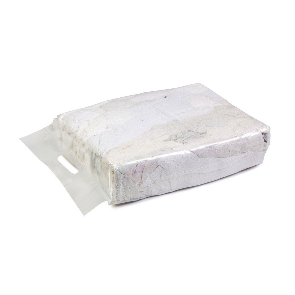 Textilní čistící utěrky - Bílá látka z froté ručníků 5kg