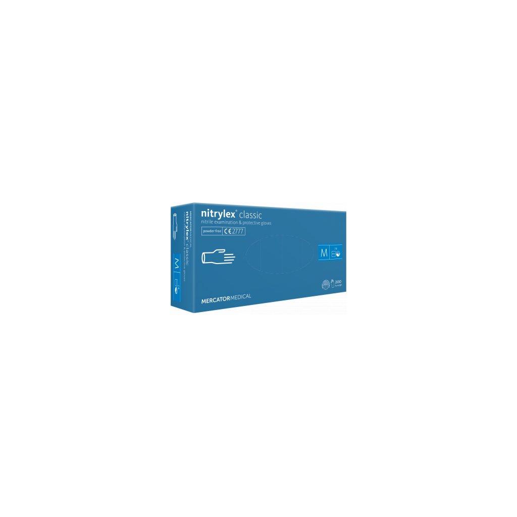 Mercator nitrylex® classic jednorázové rukavice nitrilové, modré, 100ks, vel.M