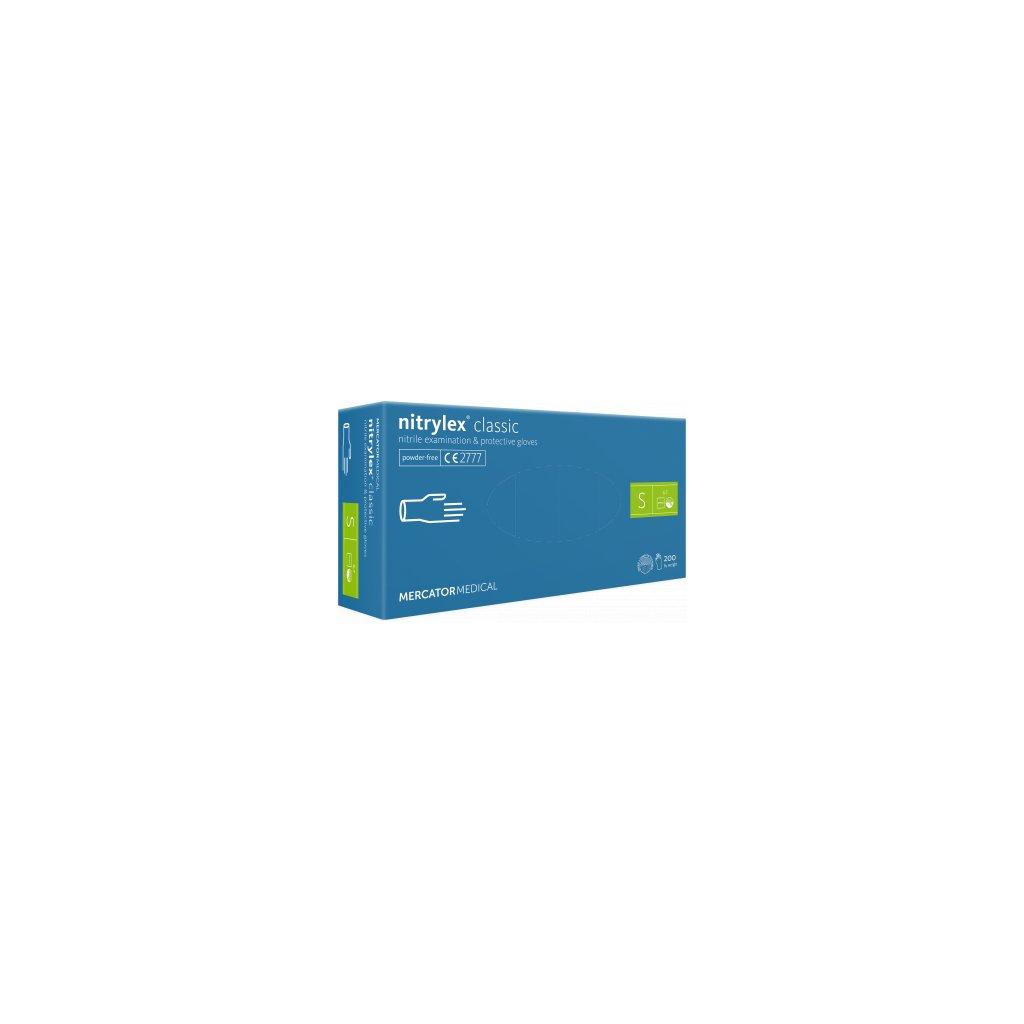 Mercator nitrylex® classic jednorázové rukavice nitrilové, modré, 100ks, vel.S