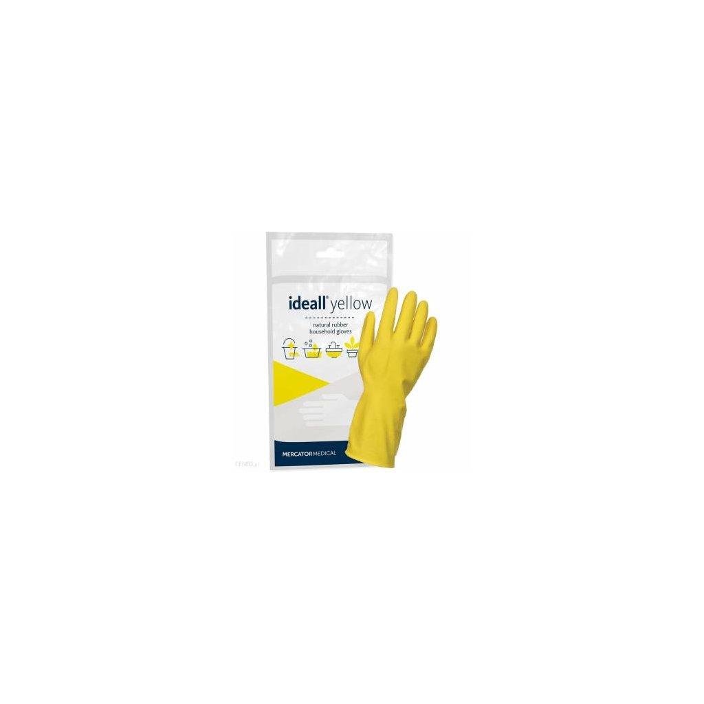 Mercator Ideall Yellow, úklidové rukavice, vel. S
