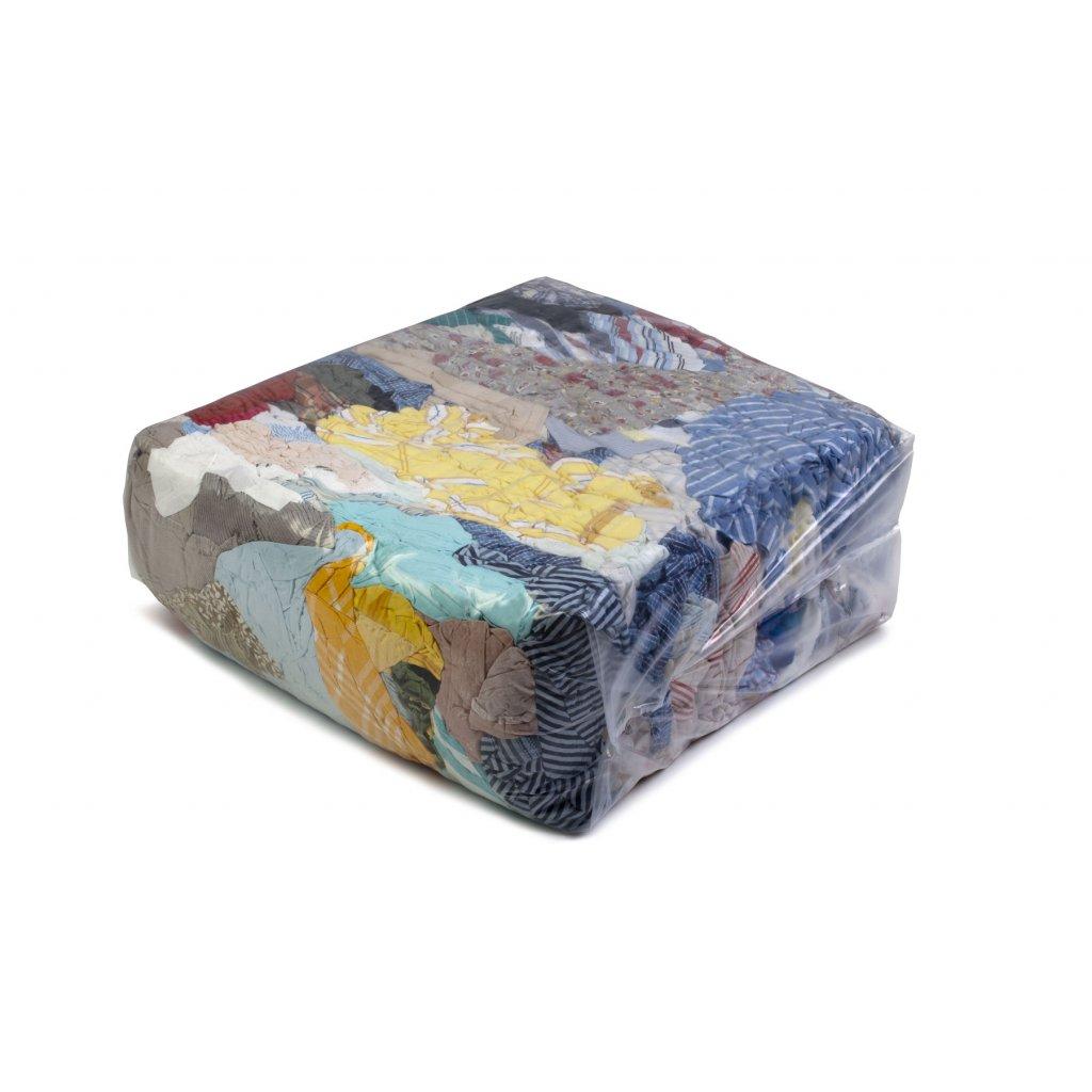 Textilní čistící utěrky - Barevné, bavlněné látky 25kg