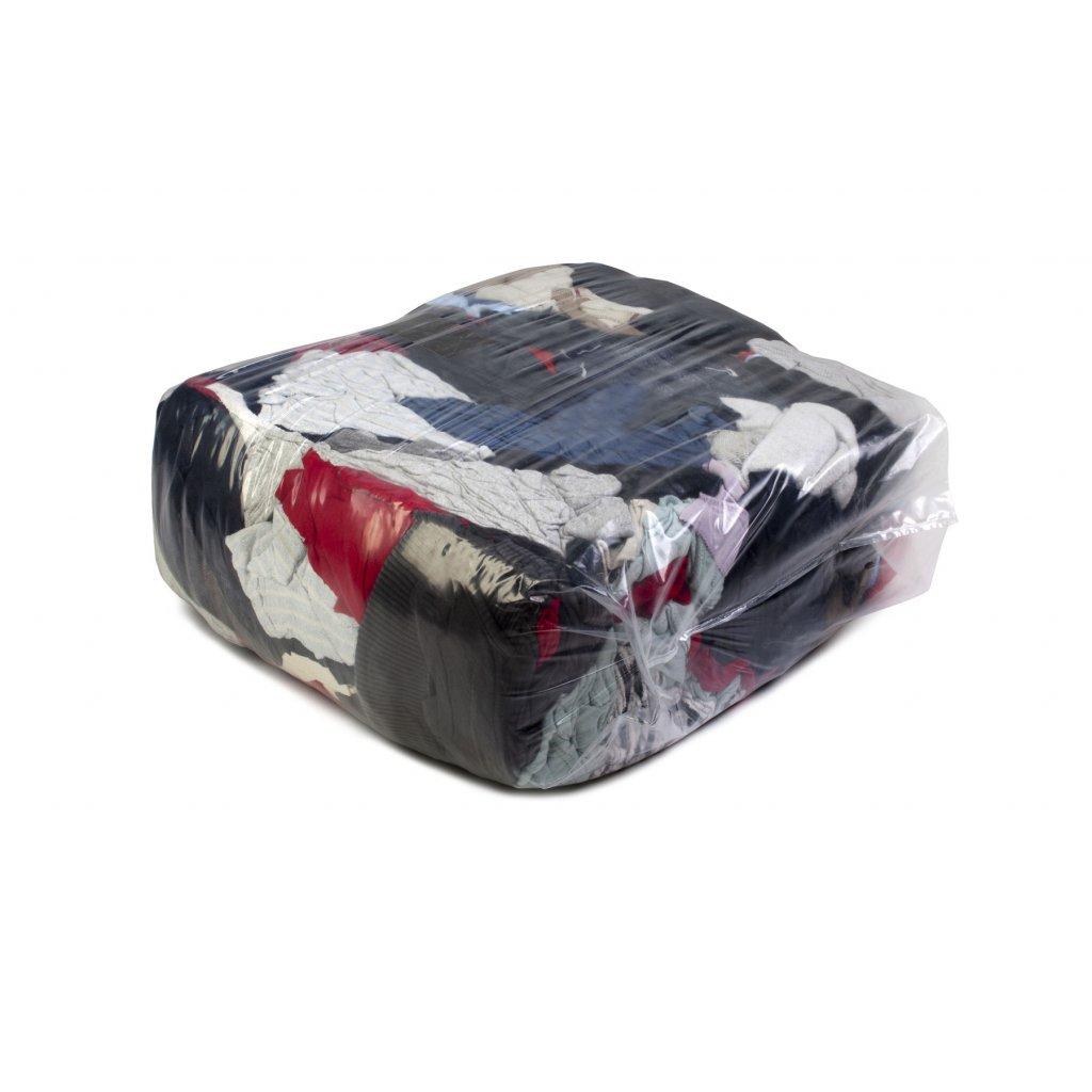 Textilní čistící utěrky - Barevné pletené látky - silné a tenké 25kg