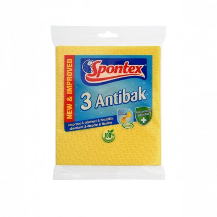 Spontex Antibak houbová utěrka 3ks