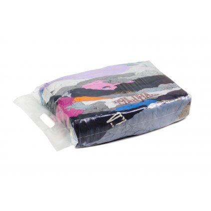 Textilní čistící utěrky - Barevné pletené látky - silné a tenké 5kg
