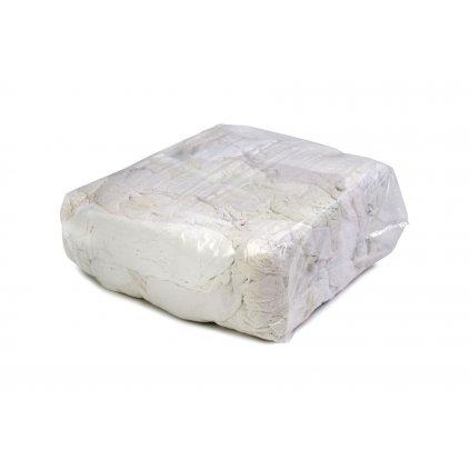 Textilní čistící utěrky - Bílá látka z froté ručníků 25kg