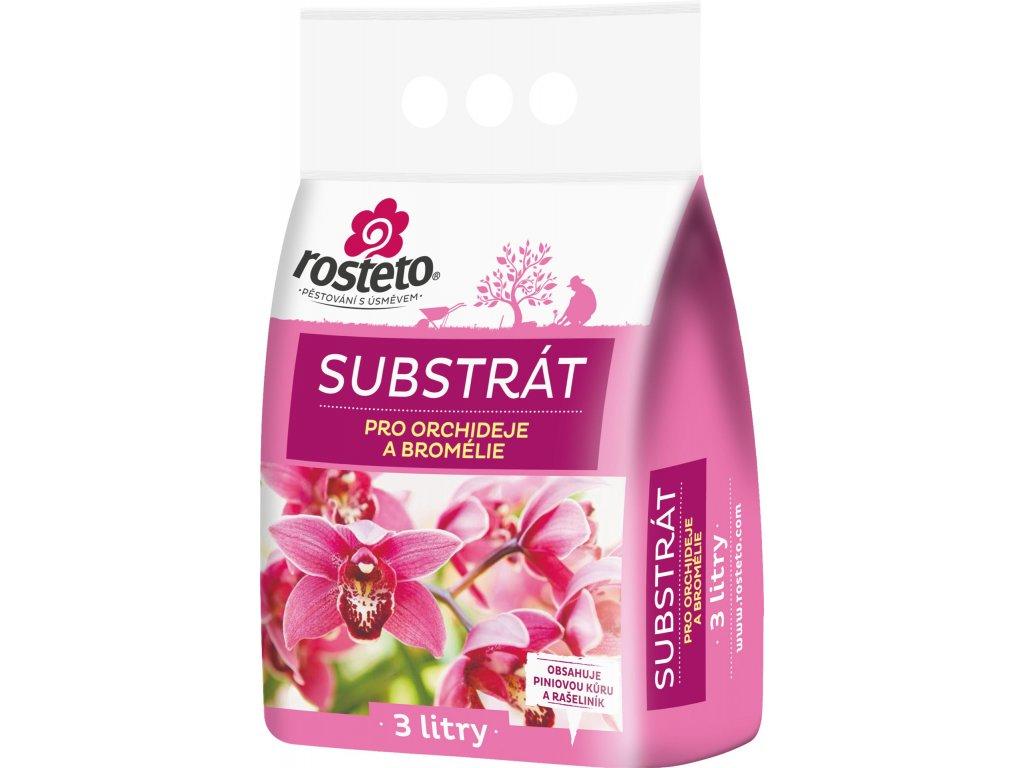 Substrát - Orchideje a bromélie Rosteto - 3 l