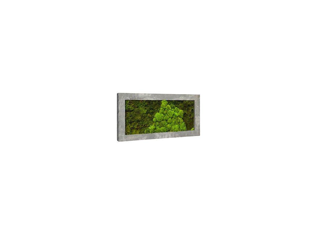 Mechový obraz Polystone raw grey 100x50 cm