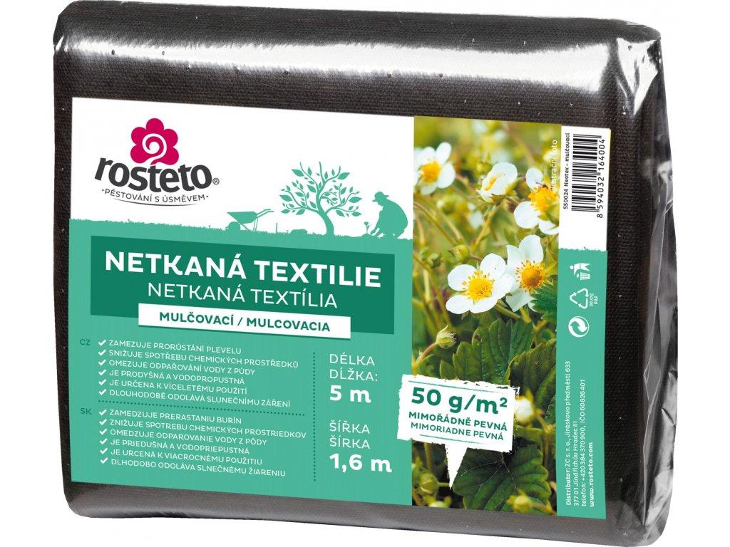 Neotex / netkaná textilie Rosteto - černý 50g šíře 5 x 1,6 m