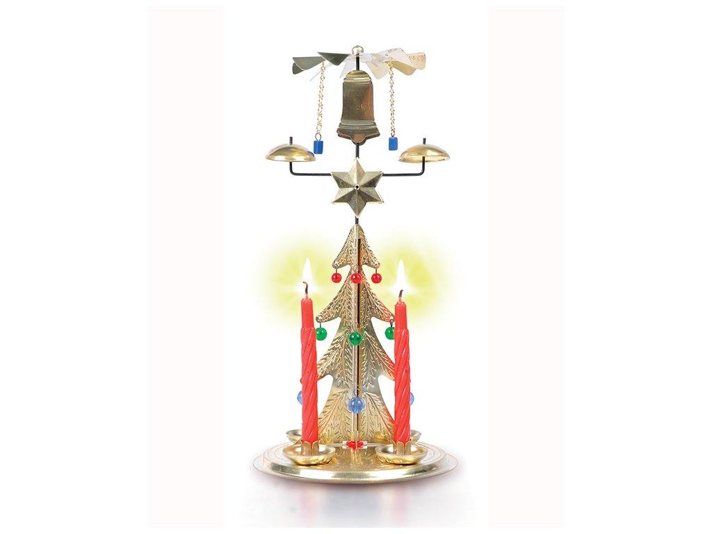 Andělské zvonění - Zvonící stromek ZLATÝ