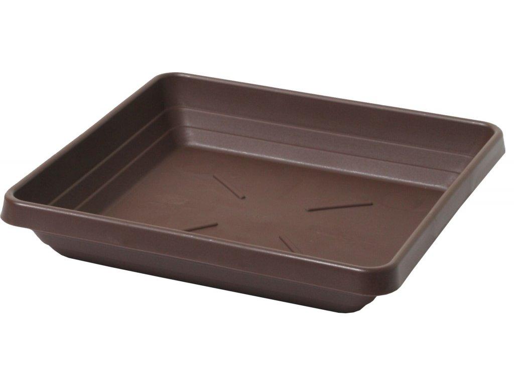 Miska čtyřhranná Lotos - čokoládová 30x30
