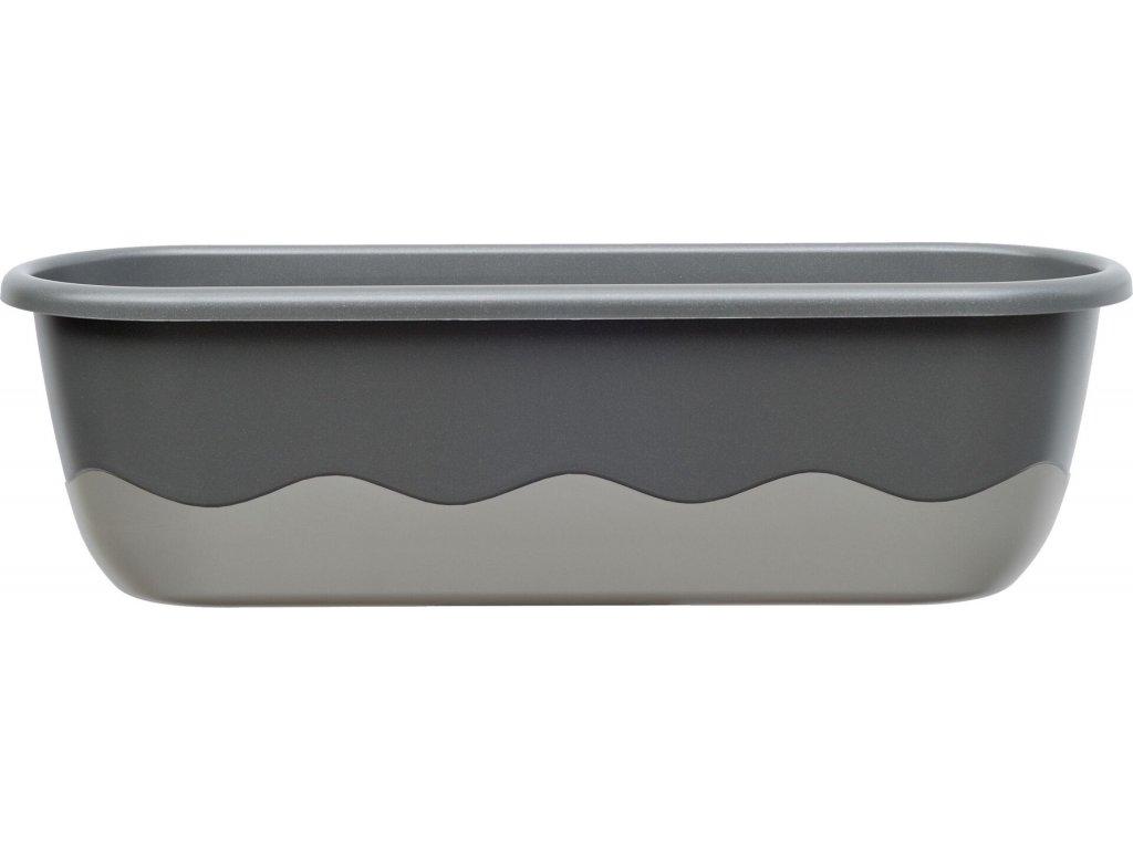 Truhlík samozavlažovací Mareta - tm.+ sv. antracit 60 cm