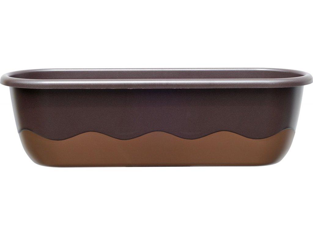 Truhlík samozavlažovací Mareta - čokoládová + bronzová 60 cm