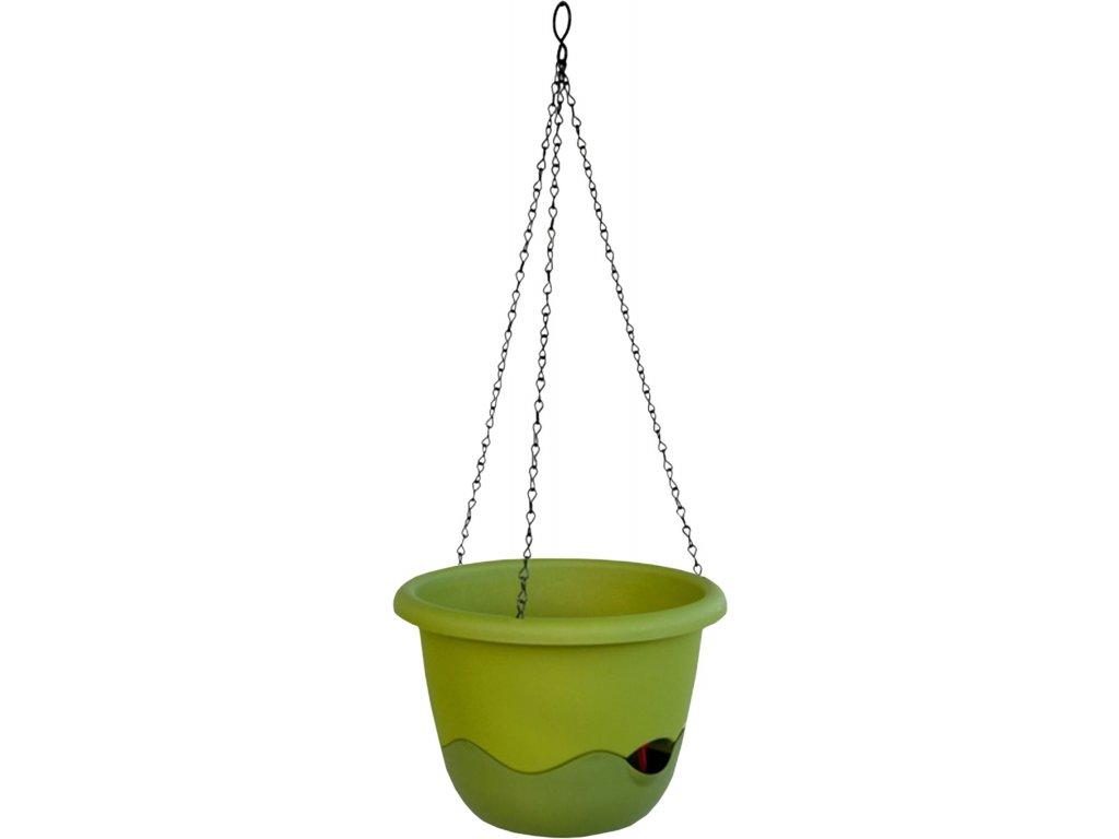 Květináč Mareta závěsný - zelená světlá + tmavá 30 cm