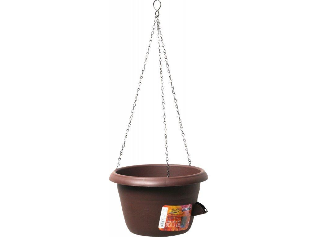 Žardina samozavlažovací - závěs 25 čokoládová