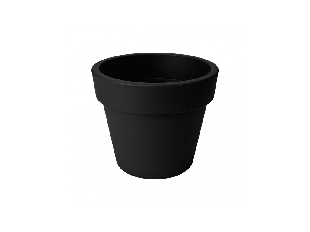 elho green basics top planter 40 - living black