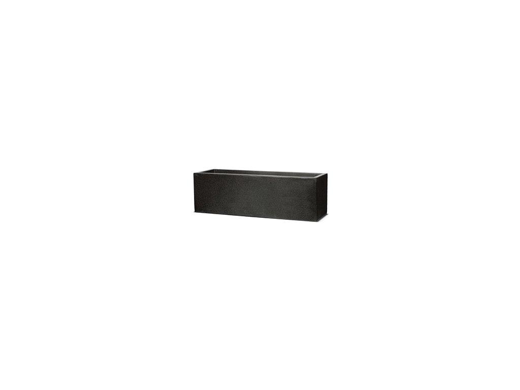 Capi Lux truhlík nízký 88x28x28 cm - black