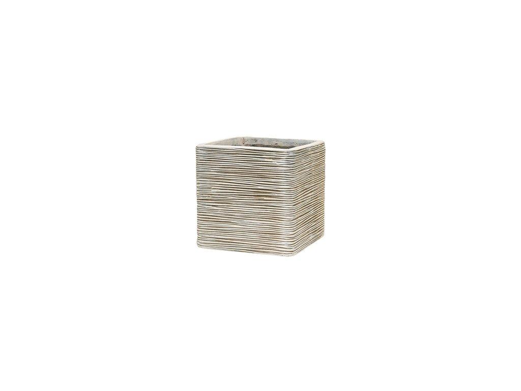 Capi Nature rib square 30x30x30 cm - ivory
