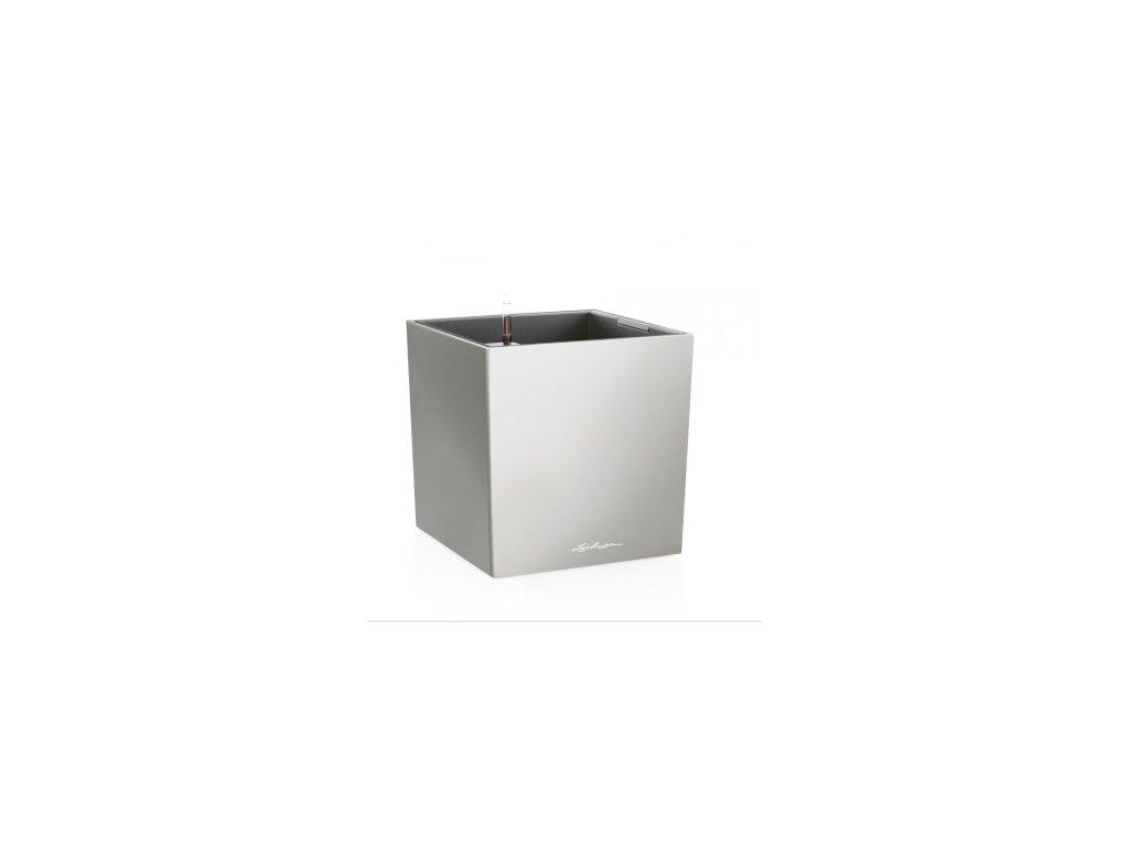 Lechuza Cube Premium 40 - stříbrná