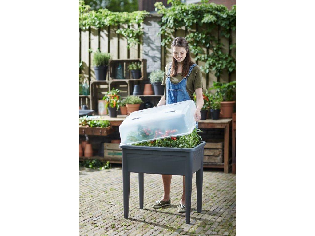 elho green basics grow table minipařeniště spodní díl+vrchní díl XXl - living black