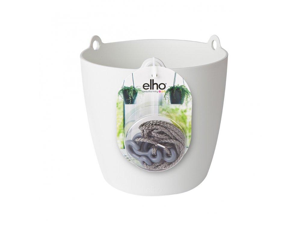 elho brussels hanging basket 18 - bílá