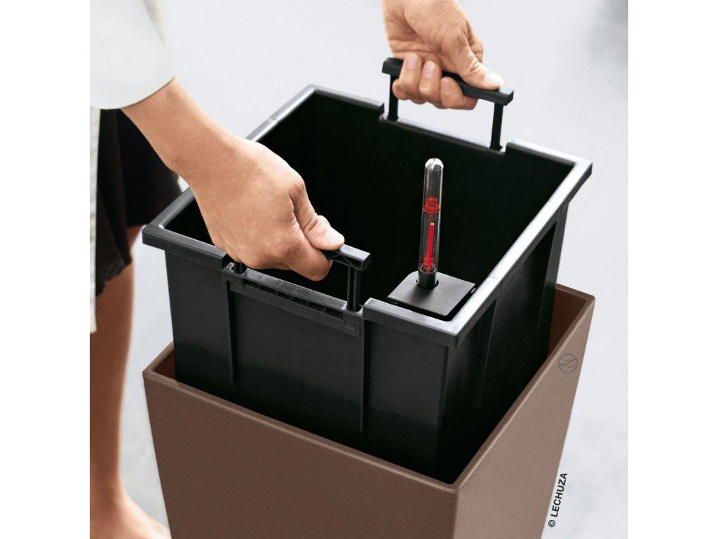 Lechuza Cube Premium 50 - taupe