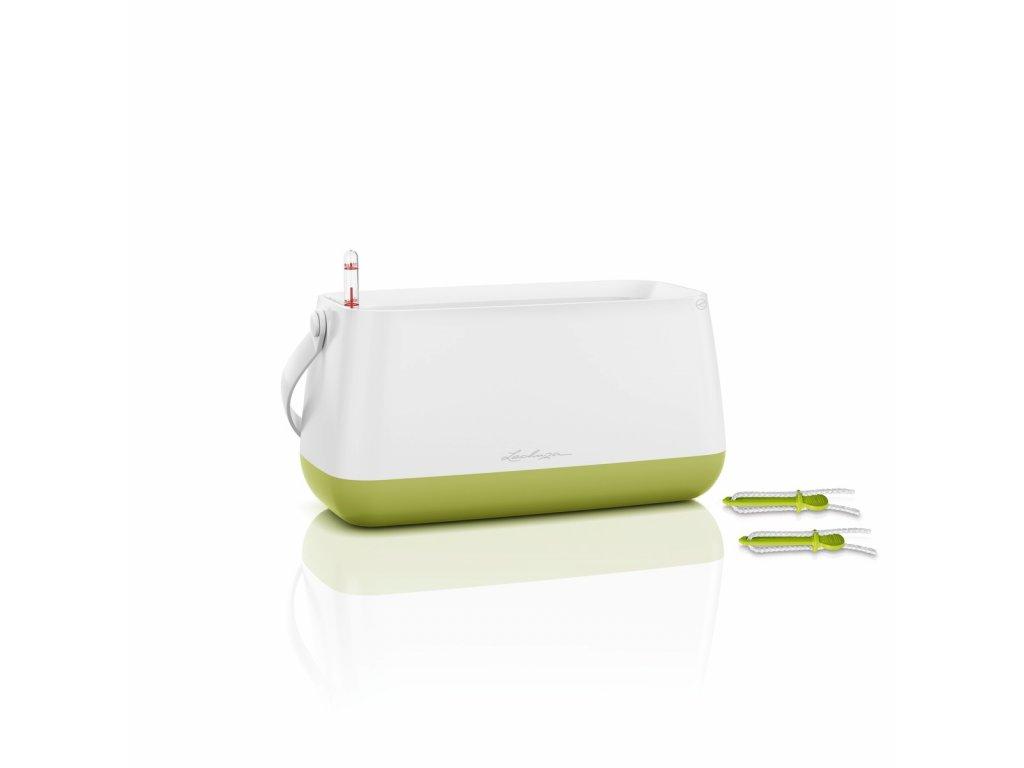 Lechuza květináč taška YULA - bílá/zelená